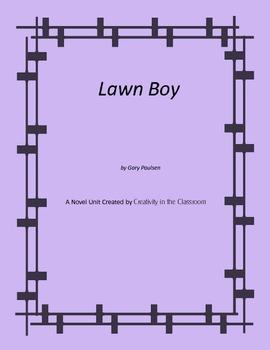 Lawn Boy Novel Unit Plus Grammar