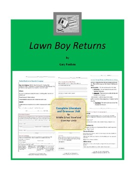 Lawn Boy Returns Complete Literature and Grammar Unit