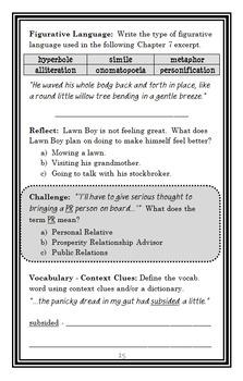 Lawn Boy Returns (Gary Paulsen) Novel Study / Comprehension (36 pages)