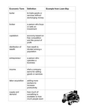 Lawn Boy Vocabulary Activity Page