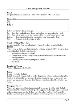 Lawn Boy - Writing and Research Extension Assignments