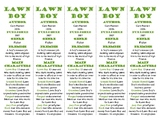 Lawn Boy edition of Bookmarks Plus: Fun Freebie & Handy Reading Aid!