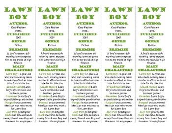Lawn Boy edition of Bookmarks Plus: Fun Freebie & Handy Reading Aid!