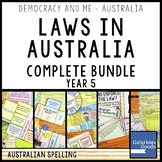 Laws in Australia COMPLETE BUNDLE (Year 5 HASS)
