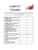 Laws in Canada - CLU 3M Introduction
