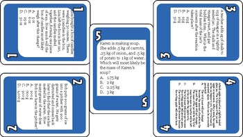 Laws of Conservation and Sates of Matter (Uno Game)