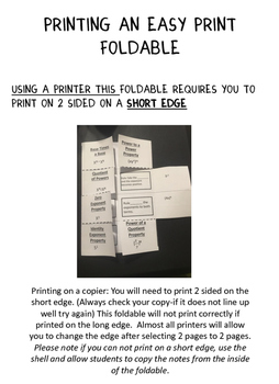 Exponent Rules: Graphic Organizer-Foldable and Task Cards