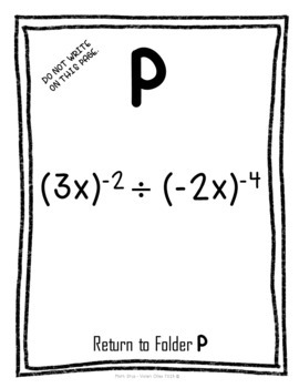 Laws of Exponent Scavenger Hunt Looping Activity