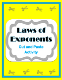 Laws of Exponents Activity