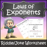 Properties of Exponents Worksheet {Exponent Rules Activity} {Laws of Exponents