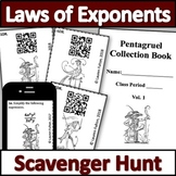 Exponent Rules - Laws of Exponents Activity! Scavenger Hunt!