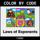 Laws of Exponents - Color by Code / Coloring Pages - Farm