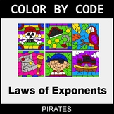 Laws of Exponents - Color by Code / Coloring Pages - Pirates