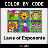 Laws of Exponents - Color by Code / Coloring Pages - Safari