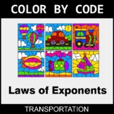 Laws of Exponents - Color by Code / Coloring Pages - Trans