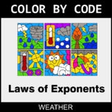 Laws of Exponents - Color by Code / Coloring Pages - Weather