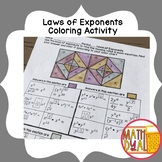 Laws of Exponents Coloring Activity