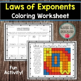 Laws of Exponents Coloring Worksheet
