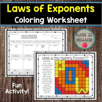 Exponents Fun Worksheet | Teachers Pay Teachers