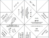 Laws of Exponents Cootie Catcher