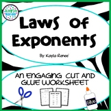 Laws of Exponents Cut-n-Glue: 8.EE.1
