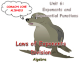 Laws of Exponents Division