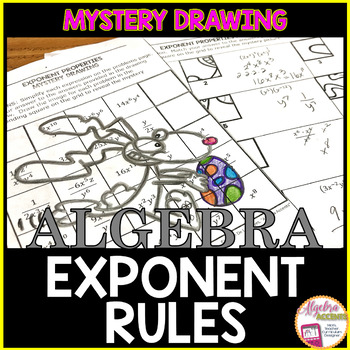Easter Math Laws of Exponents / Exponent Rules Mystery Drawing