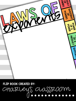 Laws of Exponents Flip Book (Math)