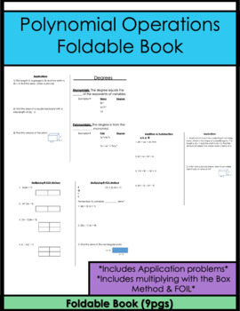 Polynomial Booklet