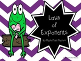 Laws of Exponents Foldable