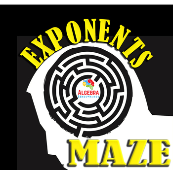 Laws of Exponents Fun Review Game Maze - Rules of Exponents