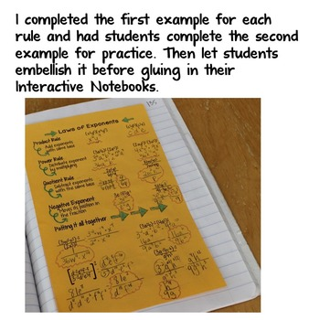 Laws of Exponents Interactive Notes