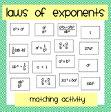 Laws of Exponents: Matching Activity