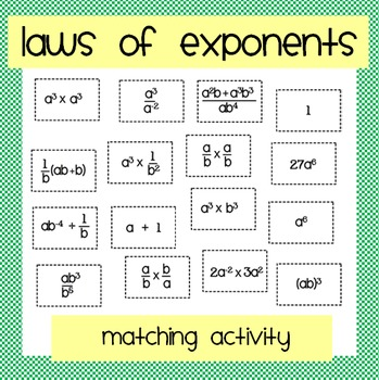 laws of exponents fun review game maze rules tpt worksheets and students printable math laws. Black Bedroom Furniture Sets. Home Design Ideas