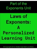 Laws of Exponents Personalized Learning Unit - Full Unit Plus Extras