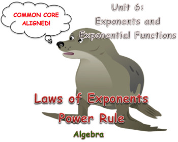 Laws of Exponents Power Rule