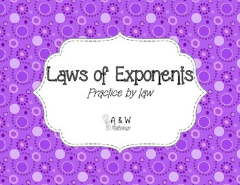 Laws of Exponents Practice By Law