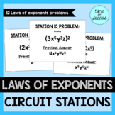 Laws of Exponents Practice - Circuit Stations
