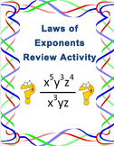 Laws of Exponents Review Activity 8.EE.A.1
