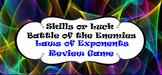 Laws of Exponents Review Game