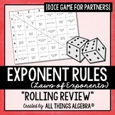 Exponent Rules - Laws of Exponents - Dice Game