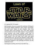 Laws of Exponents Star Wars Edition