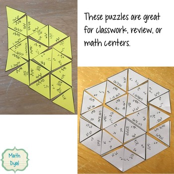 Laws of Exponents Puzzle Bundle