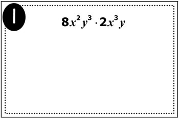 Exponent Rules Triples Activity