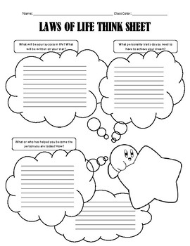 Laws of Life introductory activity - A Think Sheet