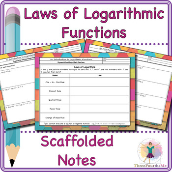 Laws of Logarithms Scaffolded Notes