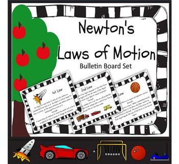 Newton's Laws of Motion Bulletin Board Explanations