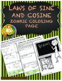 Laws of Sine and Cosine Trigonometry - Zombie Coloring Page