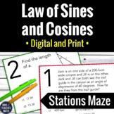 Laws of Sines and Cosines Stations Maze