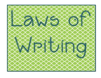 Laws of Writing Anchor Chart